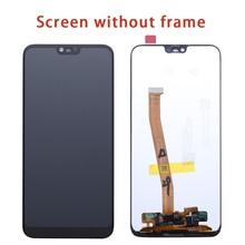 Tela Original Para Huawei Honra 10 Display LCD Touch Screen Com Frame COL 10 L29 Para Huawei Honra Tela de LCD com Impressão Digital