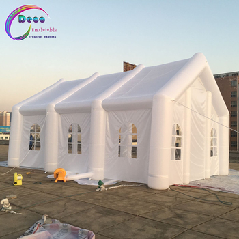 8*4*4m Custom made large white inflatable wedding, part, event marquee tent with LED lights