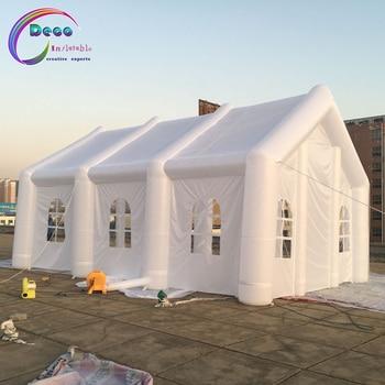 8*4*4m wykonane na zamówienie duży biały nadmuchiwany ślub, części, namiot namiotowy z LED światła