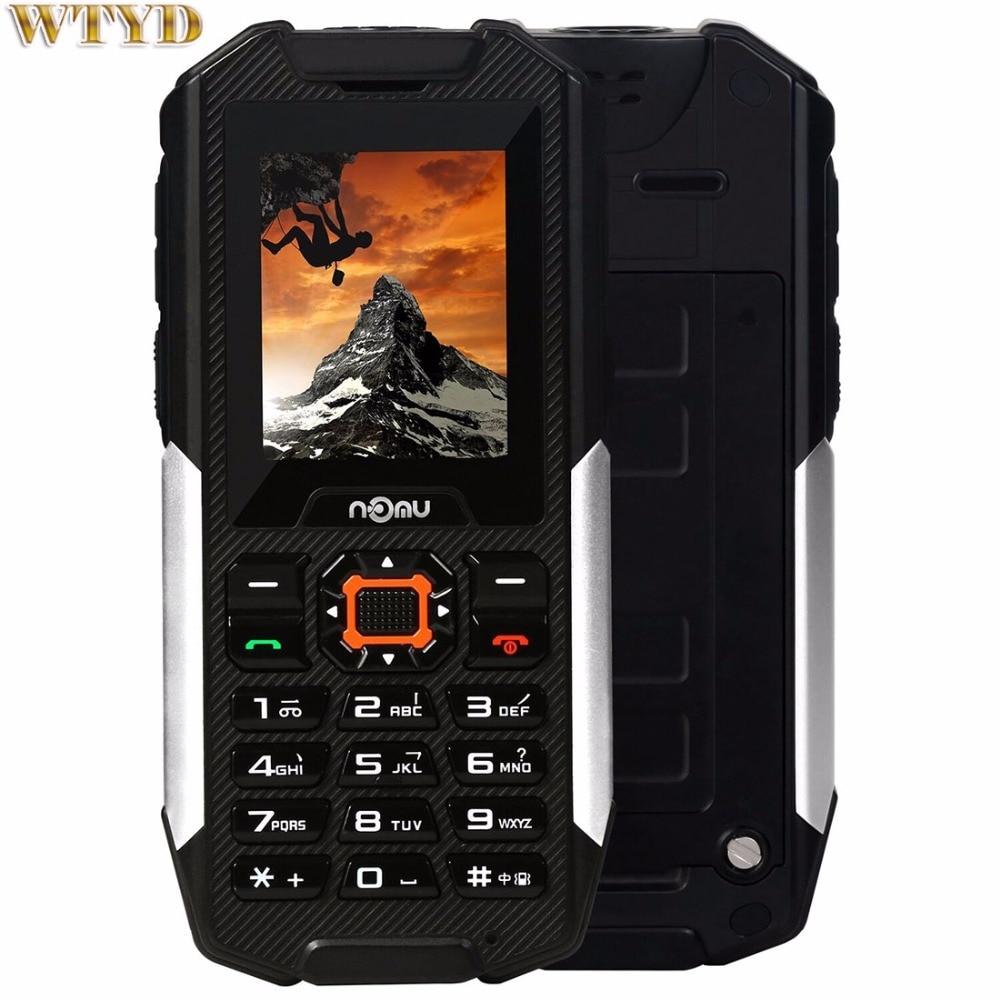 NOMU T10 Triple Proofing Phone IP68 Waterproof Dustproof Shockproof 2800mAh Battery MTK6261A Dual SIM SOS FM