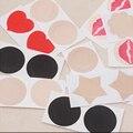 25 Pares/lote 6 Tpyes Adesivo Sexy Mamilo Capas Pads Corpo Seios Adesivos Pasta de Leite Descartável Anti Esvaziado Bra Colar No Peito