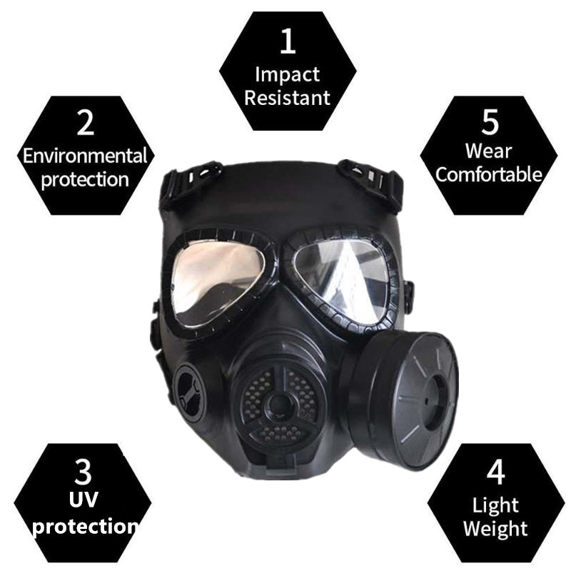 Newest Mask M04 Tactical Cs Halloween Mask Military Army Field Operations Impact Resistant Adjustable Protective Outdoor Mask