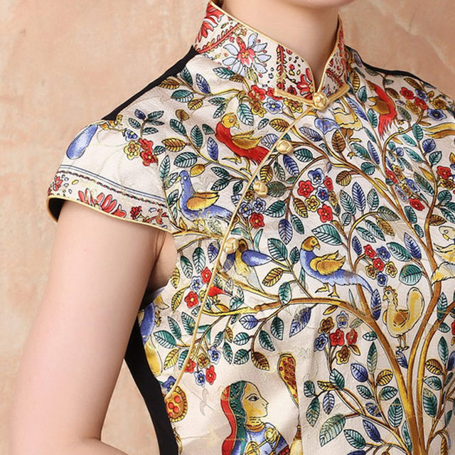 851bf0cd9272c Online Shop Size S-4XL women Silk blouses Chinese traditional cheong ...