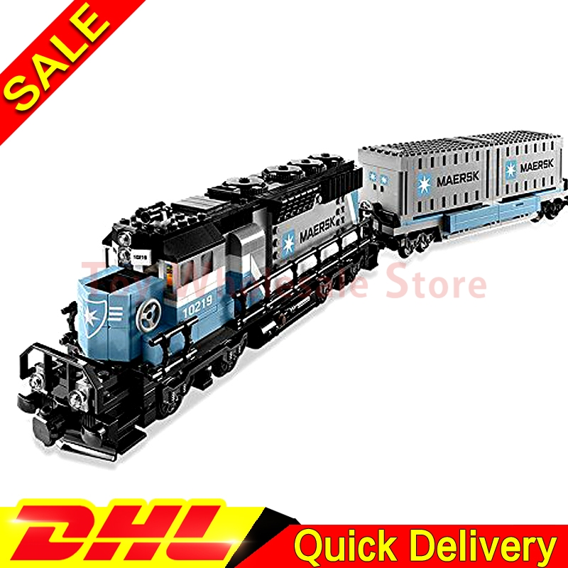 Lepin 21006 1234Pcs Genuine Technic Ultimate Series The Maersk Train Set Building Blocks Bricks lepins Toys Clone 10219 lepin 21006 compatible builder the maersk train 10219 building blocks policeman toys for children