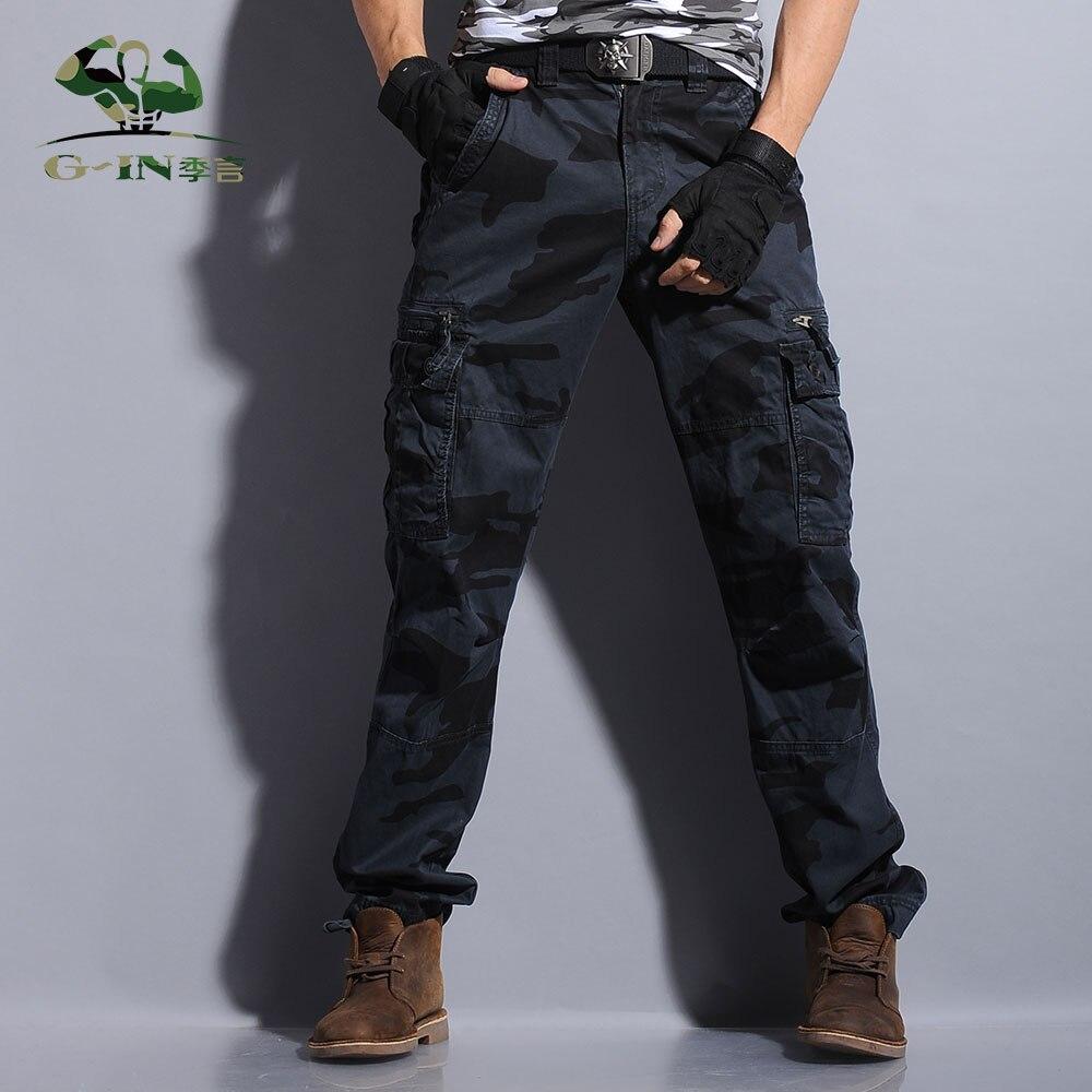 Camouflage tactique armée militaire noir cargo pantalon hommes pantalons de survêtement pantalon décontracté marque vêtements homme salopette pantalon cargo