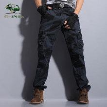 Camuflaje táctico negro militar del ejército de carga pantalones de los hombres pantalones deportivos pantalones casual brand prendas de vestir masculinas overoles pantalon cargo