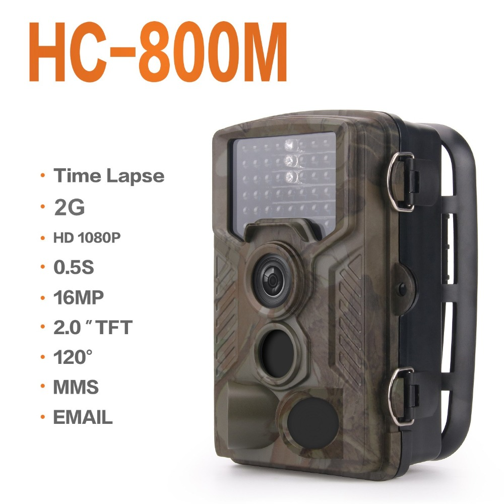 <font><b>HC800M</b></font> Trail Wild Camera Wireless Night Vision Infrared Hunting Camera Hunter Cam MMS SMS 120 Degree Cameras Trap motion trigger image
