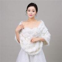 2018 New Winter Season Faux Fur Wedding Wrap Bolero Jackets Bridal Coat Cape Cloak Shawls Scarves In Stock Campera Mujer
