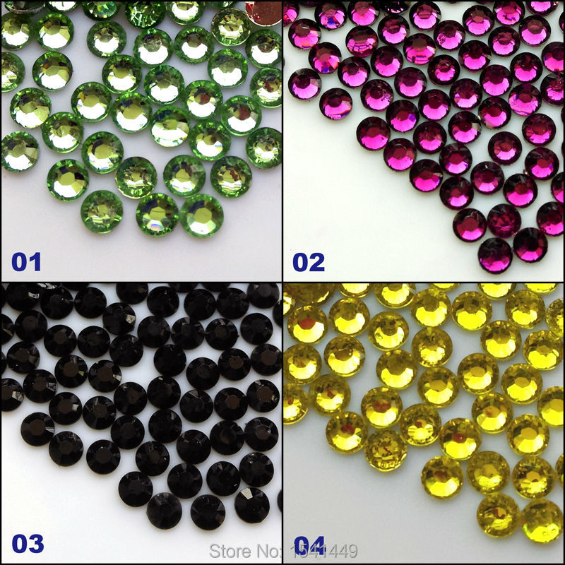 1000pcs/bag DIY nail art glass resin rhinestone crystal 14 facets ss6 2mm crystal rhinestone, beauty cell phone jewelry 01-04