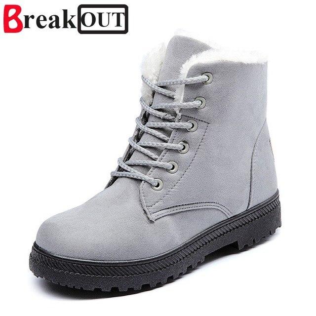 Break Out Nieuwe Vrouwen Laarzen Winter Sneeuw Warme Laarzen Enkellaarsjes met Pluche Vrouwen Schoenen 5 Kleuren