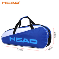 HEAD Badminton Racquet Sport Bags Badminton Sport Bags Polyester Portable Tennis Sport Bag Single Shoulder Training Gym Bags