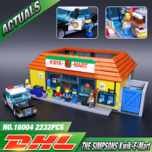 New LEPIN 16004 2232Pcs the Simpsons KWIK-E-MART Minifigure Action Figures Model Building Block Bricks Compatible 71016 Boy gift