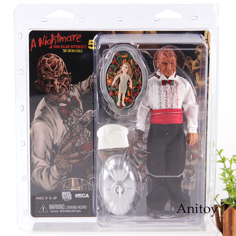 NECA A Nightmare on Elm Street 5 Freddy Krueger Serving Tray with Removable Lid & Chef Hat Horror Movie Action Figures Toys horror film a nightmare on elm street 3 freddy krueger toys with lighting house action figure neca pvc collection model toy 28cm