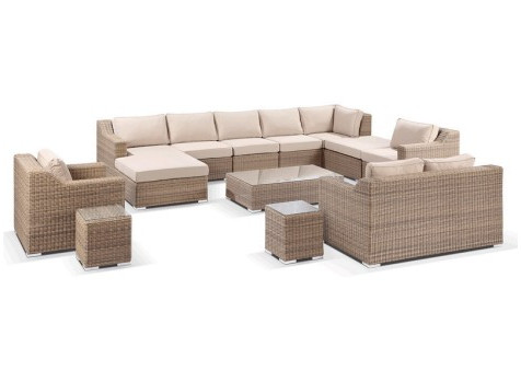 Sigma Outdoor Aluminum Rattan Furniture Sectional Seating Set Large  Sofa(China (Mainland))