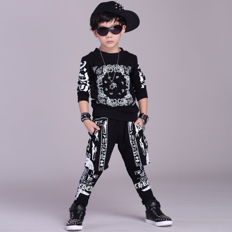 852ad9af5 Fashion Kids Hip Hop Clothing Jazz Street Dancewear Children Performance Costume  Boys Girls Modern Dance Set-in Clothing Sets from Mother & Kids