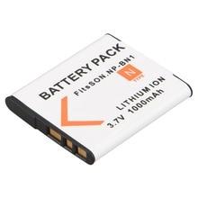 1Pc 3.7V 1000mAh NP-BN1 NP BN1 NPBN1 Camera Battery Pack for Sony TX9 WX100 TX5 WX5C W620 W630 W670 TX100