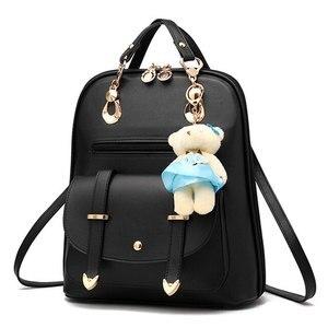 Image 3 - Vogue Sterne 2020 frauen rucksack leder rucksäcke frauen reisetasche schule taschen rucksack frauen reisetaschen Rucksack taschen LS535
