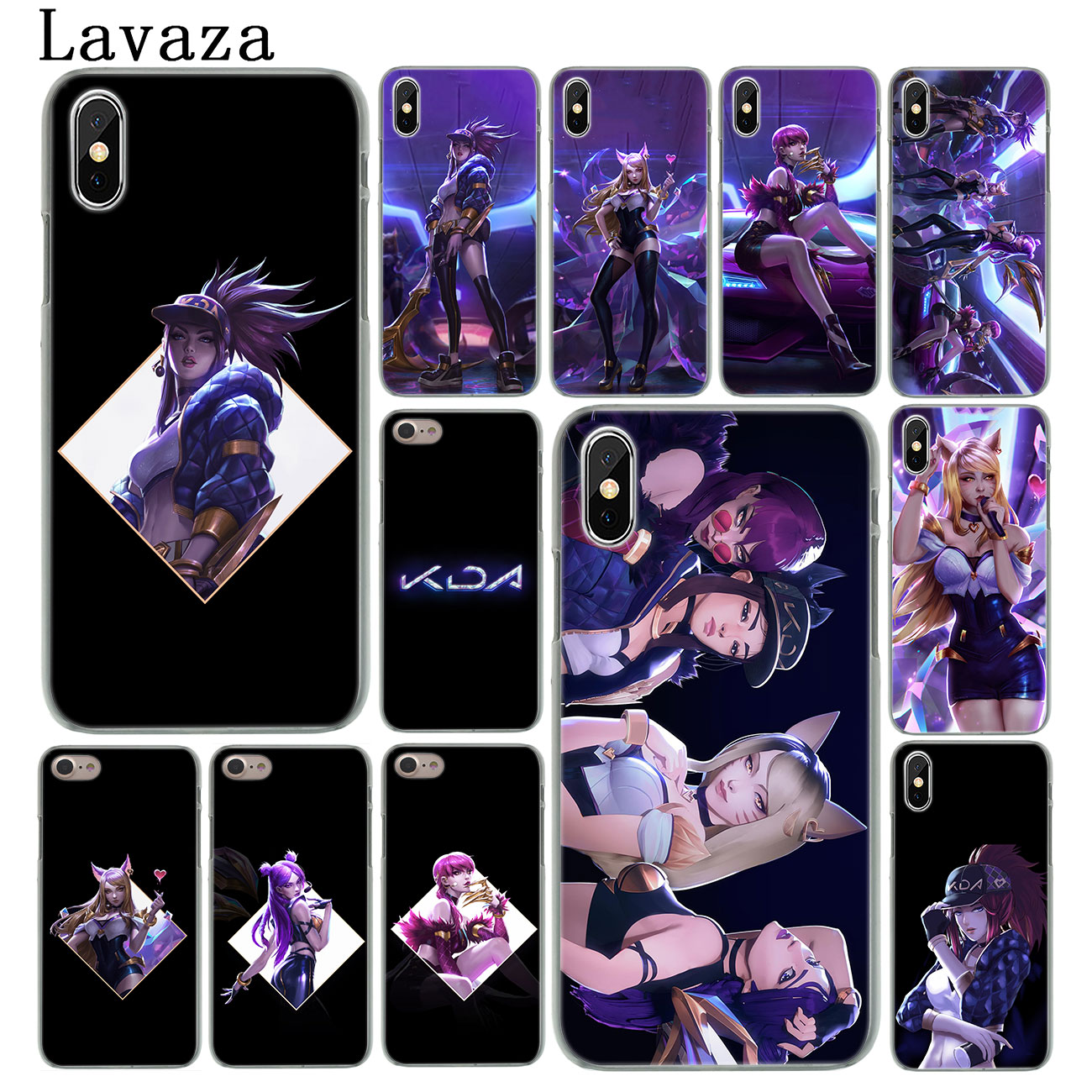 lol League of Legends kda kaisa Ahri akali Evelynn Phone Case for Apple iPhone XS Max X XR 6 6S 7 8 Plus 5 5S SE 5C 4S 10 Cases