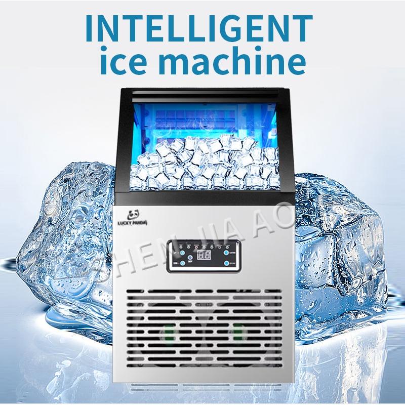 Produttori di ghiaccio SK 60FF macchina per il ghiaccio commerciale negozio di tè piccola famiglia intelligente del cubo di ghiaccio automatico che fa la macchina 60 kg/giorni