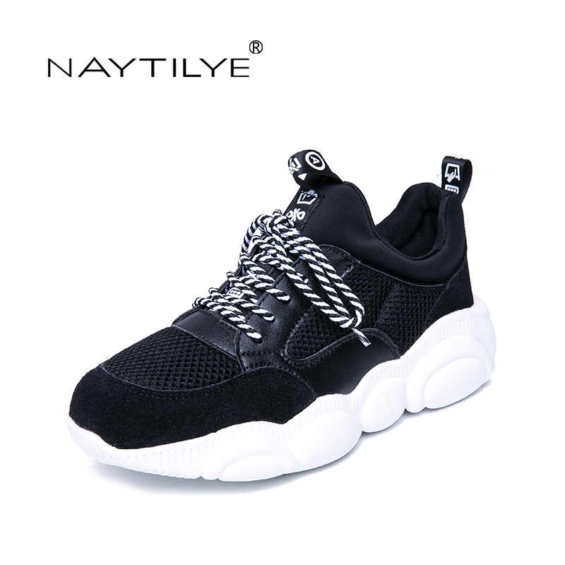 NAYTILYE 2019 New Women's Shoes Casual Round Toe Platform Sports Shoes Spring/Autumn woman shoes Size 35-40 Free shipping