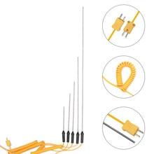 1pc durável 100/150/200/300/500mm k-tipo sensor de sonda termopar temperatura-50 °c a 1200 °c ferramentas de medição com cabo de fio