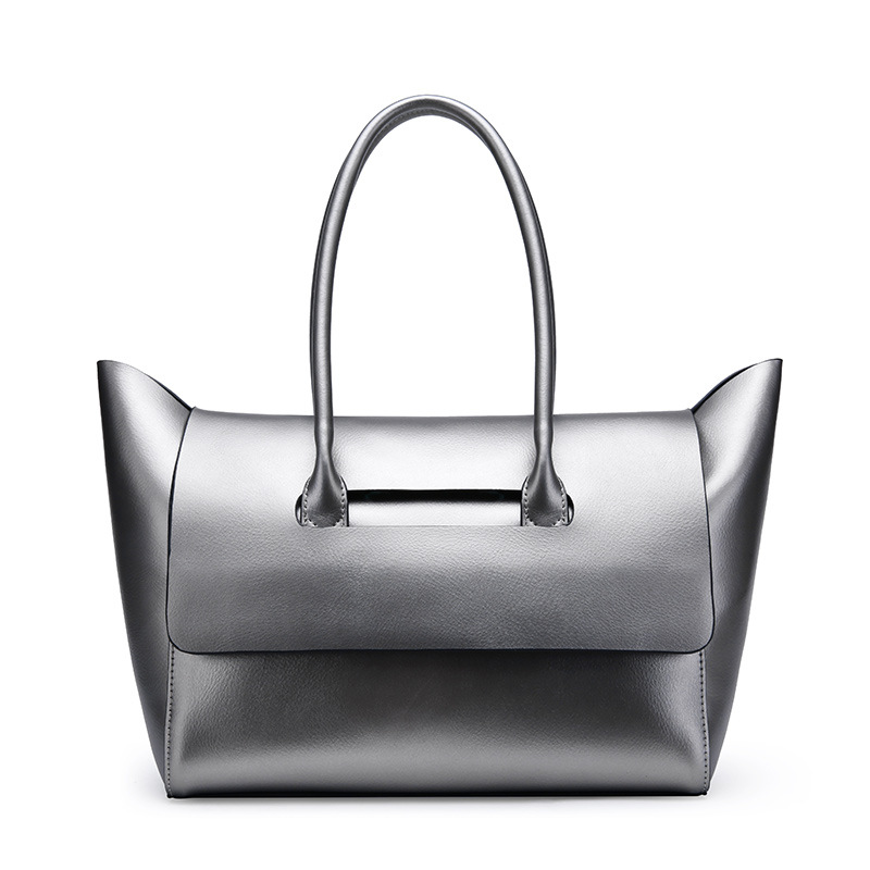 New European and American Style women genuine leather handbags Simple female casual tote bags fashion women shoulder bags