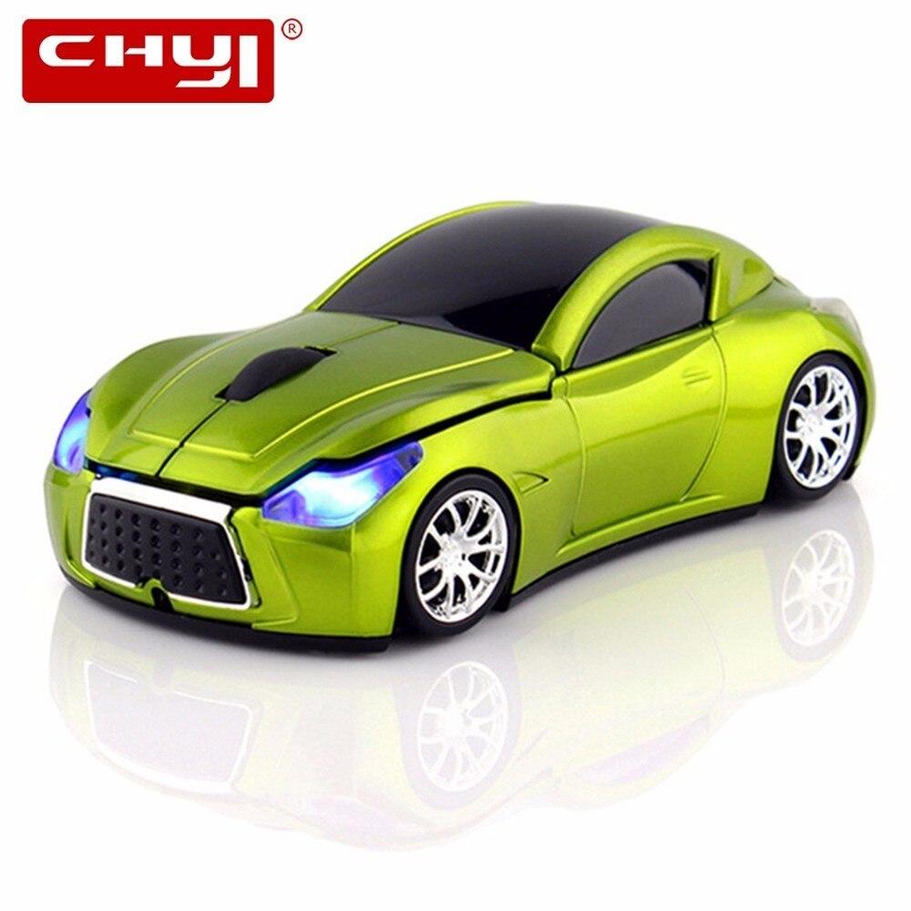 Bezvadu pele 3D sporta auto datoru peles auto bezvadu optiskās spēļu peles 2.4GHz ar LED mirgojošu gaismu klēpjdatoru dāvanai