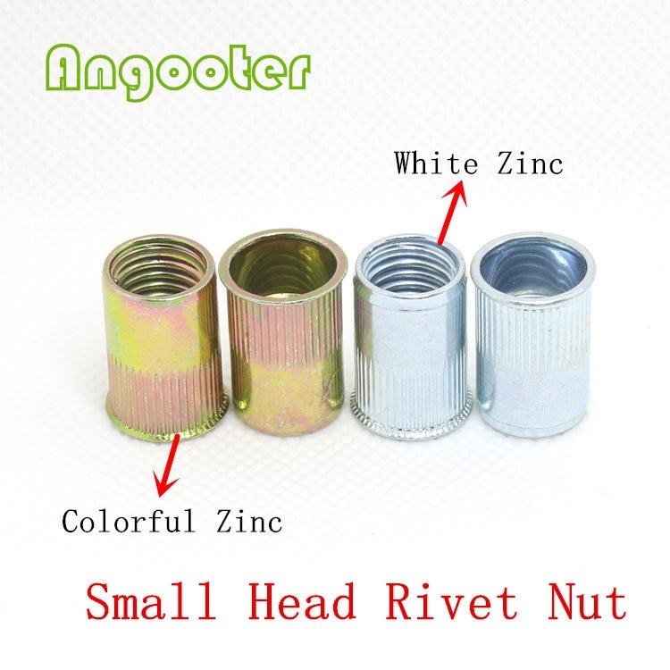 50pcs Metric M12 Zinc Plated Carbon Steel Flat Head Insert Rivet Nut Pull Rivnut