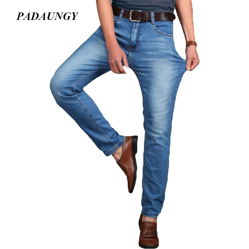 5bad48821 PADAUNGY High Elastic Jeans Men Cotton Bermuda Masculina Jogger High Stretch  Slim Fit Jeans Vetement Homme Trousers Denim Pants