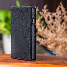 Para fiio SK M11 capa de couro protetora para music player m11 caso de couro preto