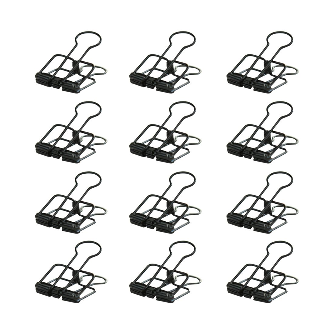 Trombones en métal de reliure à fil créatif petit avec une bonne élasticité pince à documents forte pour bureau (noir)