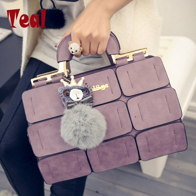 Сумки сумки женщины известные бренды плеча прилив сетки chartered sutur Бостон мешок hairball Mobile Messenger мешок сумки