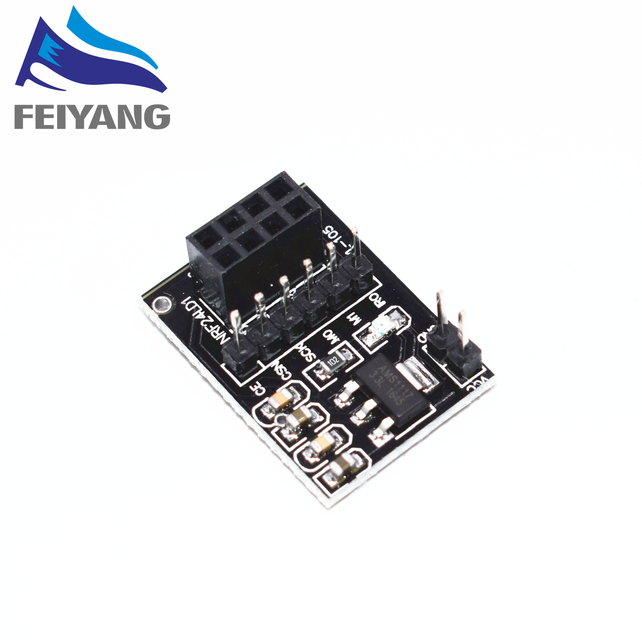 1PCS New Socket Adapter plate Board for 8Pin NRF24L01 Wireless Transceive module 511PCS New Socket Adapter plate Board for 8Pin NRF24L01 Wireless Transceive module 51