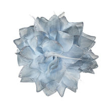Luxurious Silver Grey Hair Flowers Decorative Flower For Wedding Dress, Ball Gown or Stage Performance Dresses