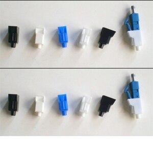 Image 3 - 100pcs סיבי LC אבק כובע לבן עבור LC אופטי סיבי מחבר מחליש תקע מגן לבן פלסטיק משלוח חינם SX ELINK