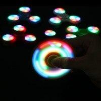 אור LED ABS EDC יד אצבע לקשקש ספינר ספינר Tri לילדים אוטיזם הפרעות קשב וריכוז 5 סגנונות הקלה לחץ חרדה פוקוס Handspinner