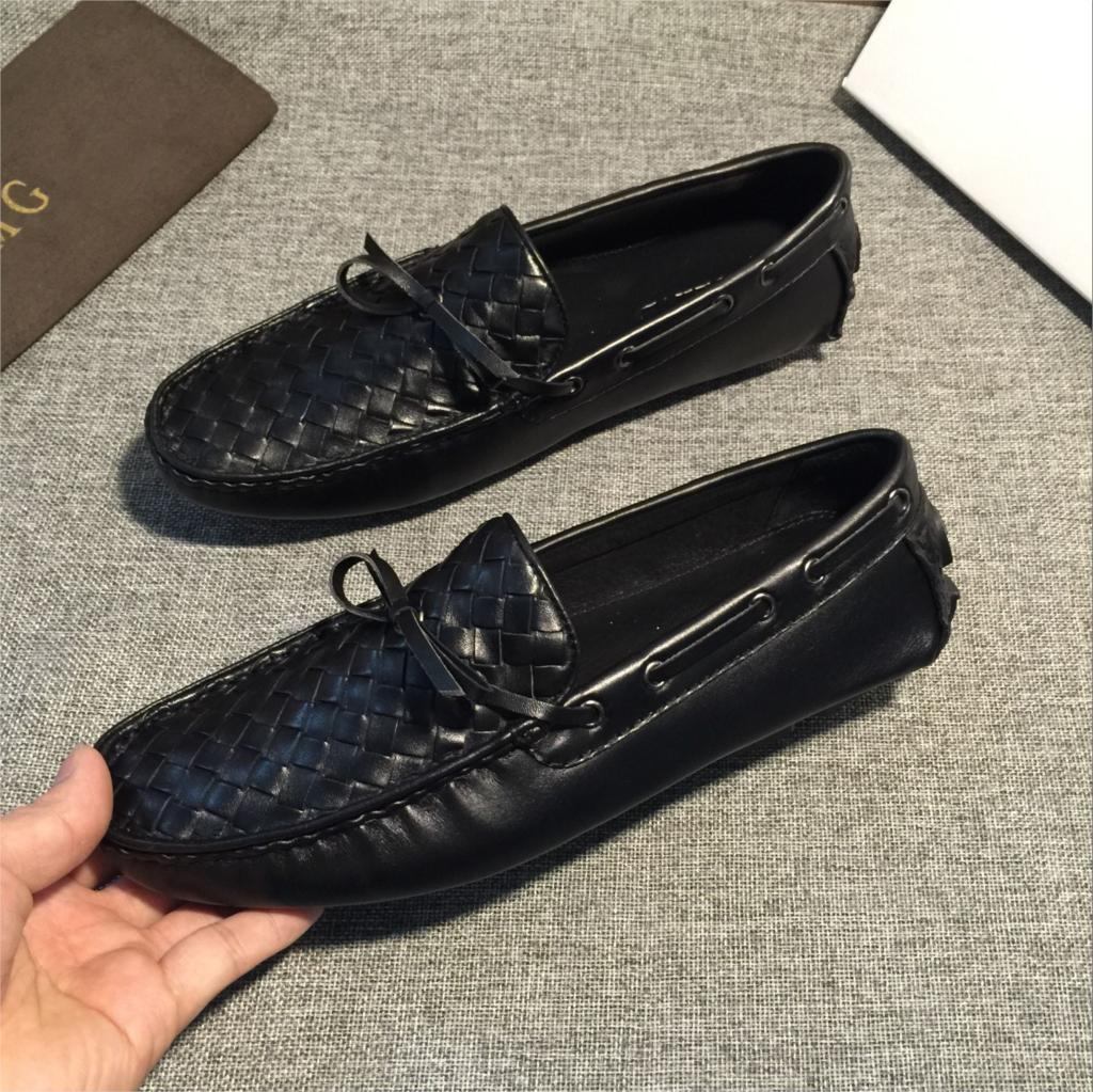 Versão Coreana Estação Grandes Casuais Homens Sapatos Peas Do Da Black Pedal Europeu Couro Preguiçosos Nova De Inglaterra Primavera Masculinos Um zwrz7FZPqv