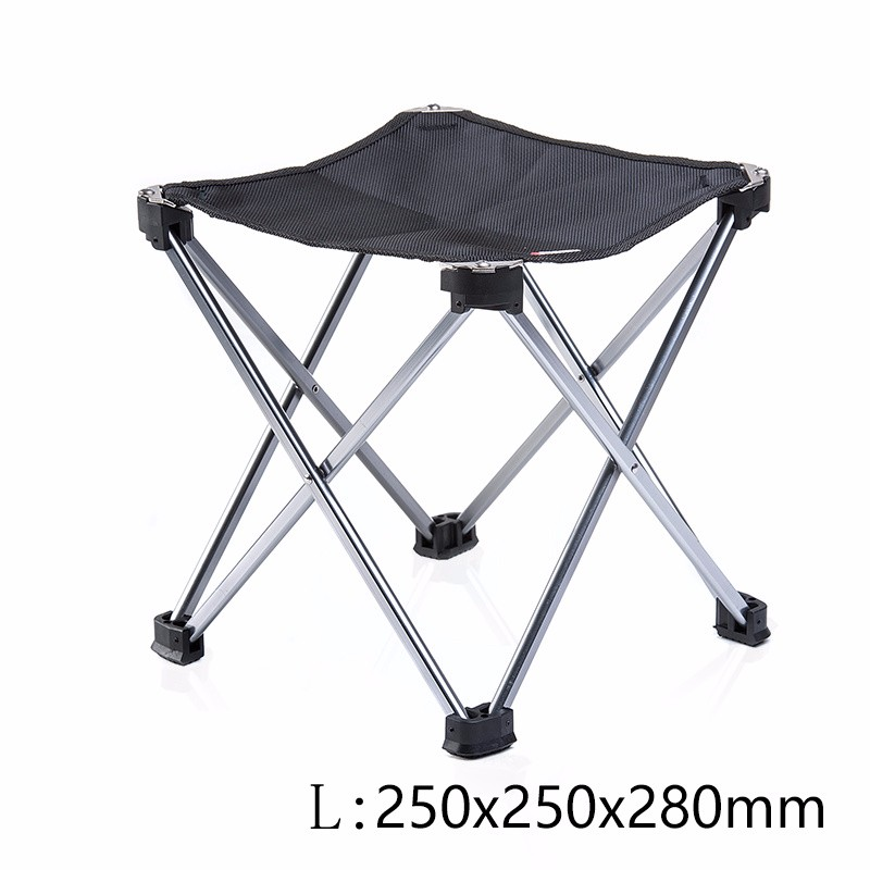 Outdoor Foldable Folding Ultra Light Fishing Picnic BBQ Garden Chair Tool Square Camping Chair 6