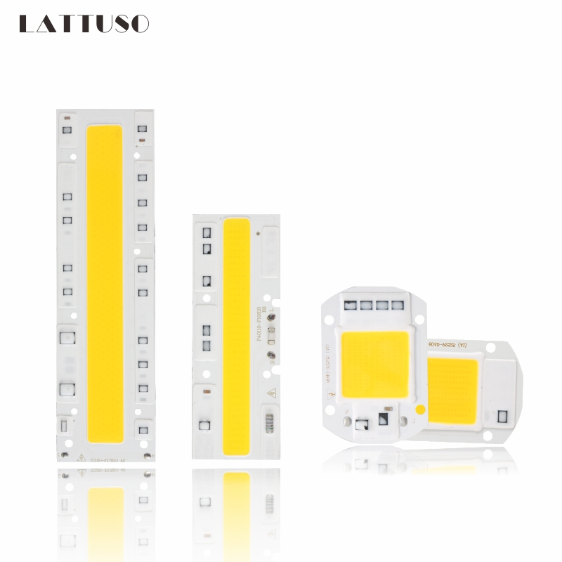 LATTUSO COB LED Lamp Chip 110V 220V High Power 10W 20W 30W 50W 70W 100W Input Smart IC No Driver LED Bulb Flood Light Spotlight high power led matrix for projectors 15w 25w 35w 50w diy flood light cob smart ic driver led diode spotlight outdoor chip lamp