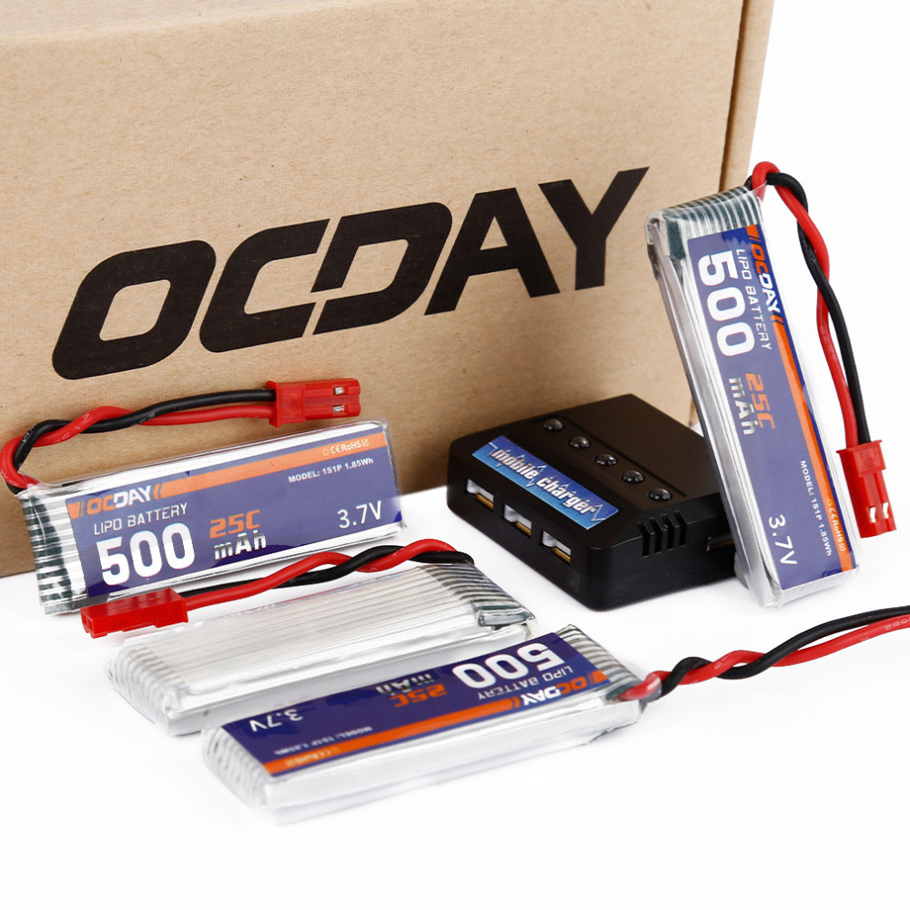 UDI U818A U815A U817 Lipo Battery 3.7V 500MAH 25C 1S1P 1.85WH Battery x4 & Charger x1 теннисная ракетка sirdar 712 713 715 716 717 718 816 817 818 80