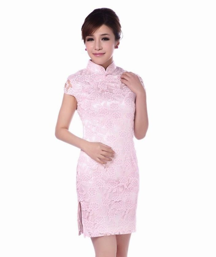 Light Pink Cheongsam Dresses