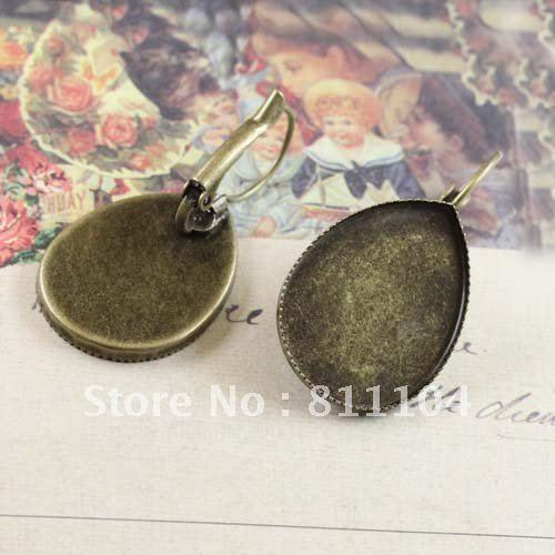 Custom Cameo Resin Pins Diy: 13x18mm Antique Bronze Copper Blank Teardrop Tray Bases