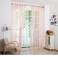 Hot Decorations Soft Sheer Tulle Curtains For Living Room White Pink Yellow