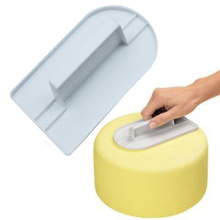 Plastic Cake Smoother Polisher Tools Flat Decorating Fondant Spatulas brush DIY Baking Kitchen Accessories