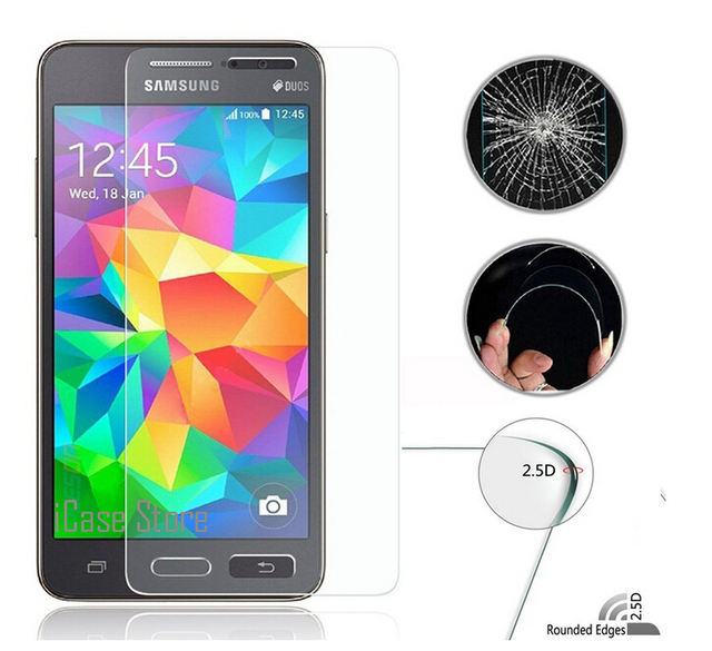 2.5D 0.26mm 9H Hardness Phone Front Tempered Glass For Samsung Samsuns Galaxy Grand Duos GT I9082 I9082I GT-I9082 I 9082