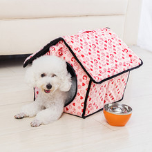 Lovely Pet Beds Small Pets Universale Movable Letter Printing PP Cotton Pet Mats House Sofa Soft Teddy Sleeping Kennel