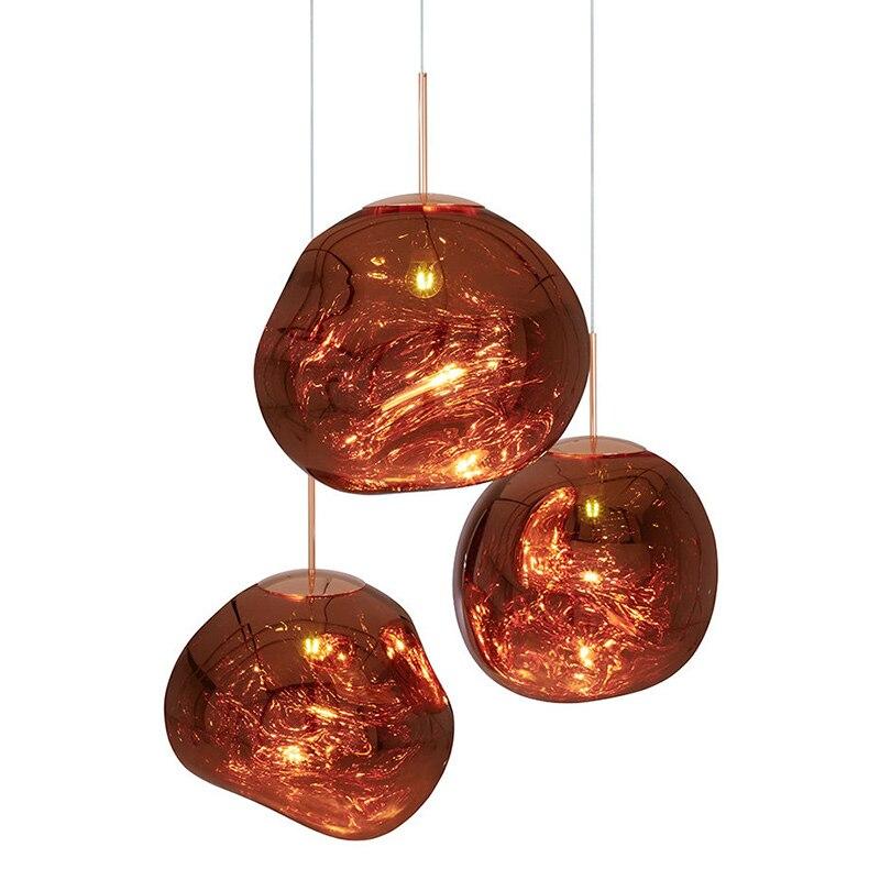 Modern Italy Designer Melt Glass Pendant Lights Lava Irregular Hang Lamp for Living Room Bedroom