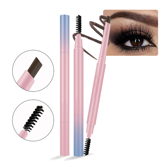 New Brand Eye Brow Pencil Mineral Powder Cosmetics Double Ended Long