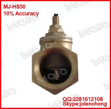 free shipping ! MJ-HS50 G2'' Piston-type flow switch Brass material flow switch johnson f61kb 11c stainless steel target type flow switch flow switch flow controller 1 inch outside the wire