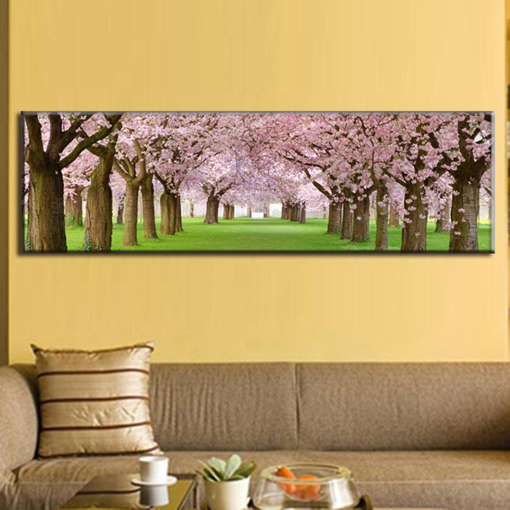 large canvas paintings cherry blossom canvas prints wall art natural